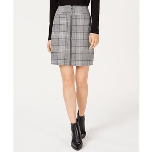INC International Concepts Plaid Zip Front Skirt